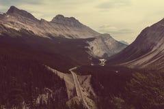 Montagne canadesi Immagine Stock