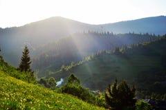 Montagne carpathienne Photographie stock