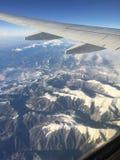Montagne carpatiche dall'aeroplano Fotografia Stock