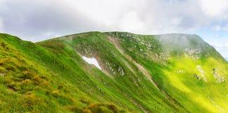 Montagne carpatiche pittoresche, paesaggio di estate, Ucraina della natura Fotografie Stock