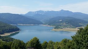 Montagne carpatiche rumene Fotografie Stock Libere da Diritti