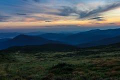 Montagne carpatiche in Ucraina Fotografia Stock Libera da Diritti