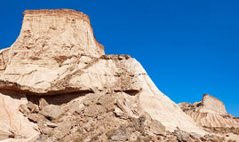Montagne Castildetierra en parc naturel de Bardenas Reales, Navarra, Photo stock