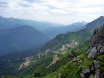 Montagne in Caucaso Fotografia Stock Libera da Diritti