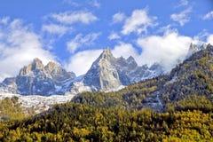 Montagne a Chamonix-Mont-Blanc Fotografia Stock Libera da Diritti