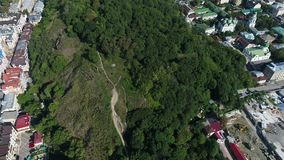 Montagne chauve de château à Kiev banque de vidéos