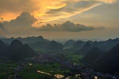 Montagne chez Bac Son Photographie stock libre de droits