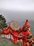 Montagne Chine de Huashan images libres de droits
