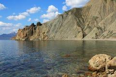 Montagne Cimmerian ed il mare. Foto 9119 Immagini Stock Libere da Diritti