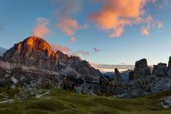Montagne Cinque Torri Images libres de droits