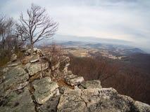 Montagne Cliff Overlooking Eastern Pennsylvania en automne image stock
