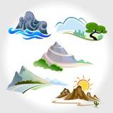 Montagne, colline e pendii magnifici Immagini Stock