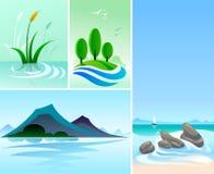 Montagne, colline ed oceano magnifici Immagine Stock Libera da Diritti