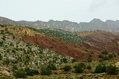 Montagne colorate differenti del paesaggio dell'Utah immagine stock libera da diritti