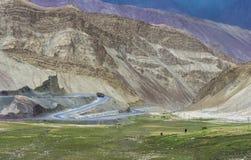 Montagne Colourful sul modo a leh Fotografia Stock Libera da Diritti