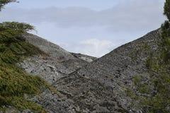 Montagne come fondo Due montagne Fotografie Stock Libere da Diritti