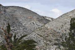Montagne come fondo Due montagne Fotografia Stock Libera da Diritti