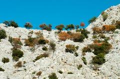 Montagne con copertura verde difficile fotografie stock