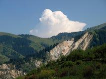 Montagne con la frana Fotografia Stock Libera da Diritti