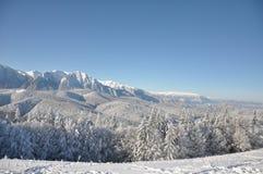 Montagne con neve Immagine Stock Libera da Diritti
