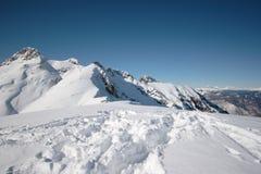 Montagne con neve Fotografia Stock