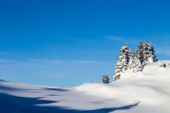 Montagne coperte di neve e circondate dalle nuvole Immagine Stock Libera da Diritti