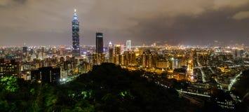 Montagne d'éléphant, le meilleur point de vue de ville de Taïpeh Images stock