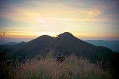 Montagne d'éléphant ou montagne de galaxie PA nationale de Pha Phum de lanière Photographie stock