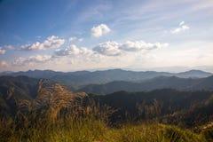 Montagne d'éléphant ou montagne de galaxie PA nationale de Pha Phum de lanière Photo stock