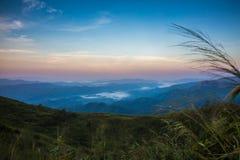 Montagne d'éléphant ou montagne de galaxie PA nationale de Pha Phum de lanière Images libres de droits
