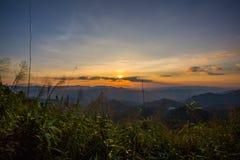 Montagne d'éléphant ou montagne de galaxie PA nationale de Pha Phum de lanière Image stock