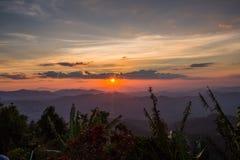 Montagne d'éléphant ou montagne de galaxie PA nationale de Pha Phum de lanière Photo libre de droits