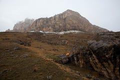 Montagne d'Ak-Kaja près de Bezengi Photographie stock libre de droits