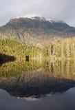 Montagne d'Alasca con le riflessioni in acqua Fotografia Stock Libera da Diritti
