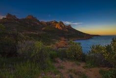 Montagne d'Esterel sur la Côte d'Azur photos libres de droits