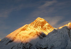 Montagne d'Everest Images libres de droits