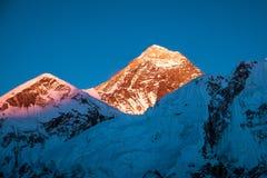 Montagne d'Everest Everest de crête de montagne la plus haute au monde Na Image stock