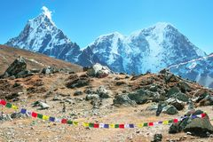 Montagne d'Everest Everest de crête de montagne la plus haute au monde Na Photos libres de droits