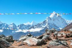 Montagne d'Everest Everest de crête de montagne la plus haute au monde Na Photo libre de droits