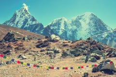 Montagne d'Everest Everest de crête de montagne la plus haute au monde Na Photographie stock