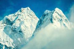 Montagne d'Everest de crête de montagne la plus haute au monde P national Image libre de droits