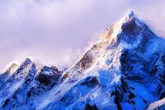 Montagne d'Everest de crête de montagne la plus haute au monde P national Photos stock
