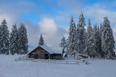 Montagne d'hiver Photos stock