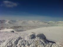 Montagne d'hiver Photo stock