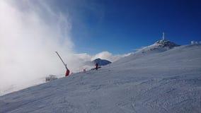 Montagne d'hiver Images libres de droits