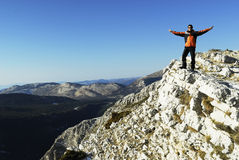 montagne d'homme Image stock