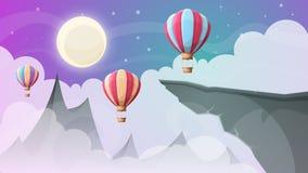 Montagne d'horizontal Aérez le ballon Photographie stock libre de droits