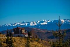Montagne dalla vista di Paltinis Fotografia Stock