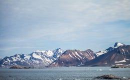 Montagne dans l'Arctique Image stock