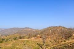 Montagne dans la saison sèche images libres de droits